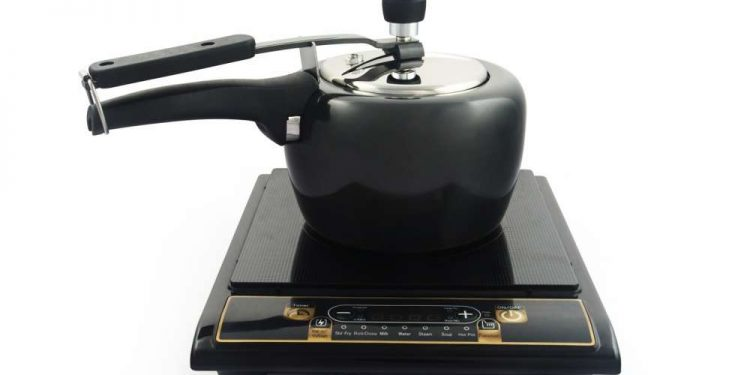 Pot on an induction cooktop