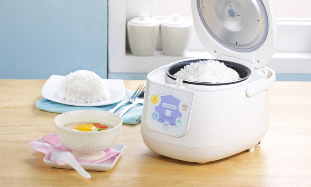rice cooker with white rice