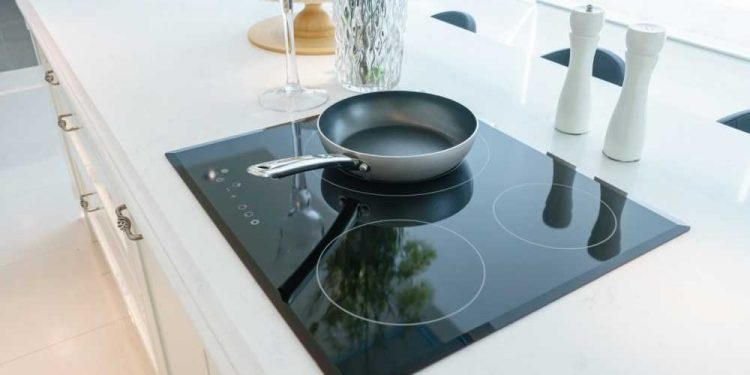 induction ready skillet on built-in induction cooktop
