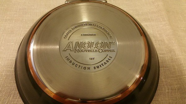 8-inch anolon nouvelle hard anodized nonstick fry pan stamp
