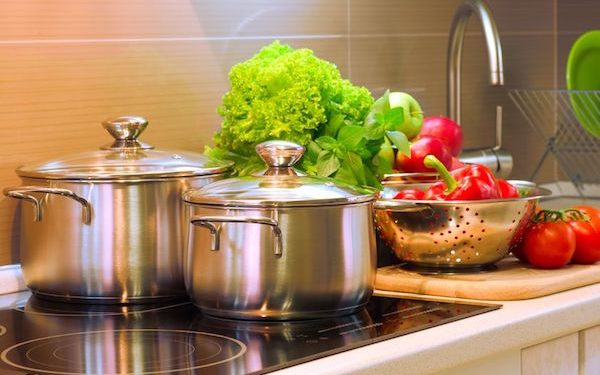 Stainless Steel pots on induction cooktop