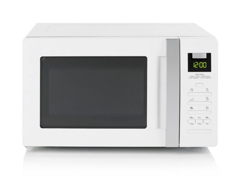 white microwave oven on white