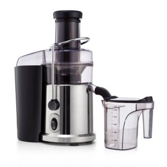 centrifugal juice with pitcher on white background