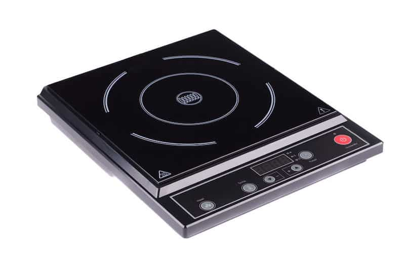 single burner induction cooktop on white background
