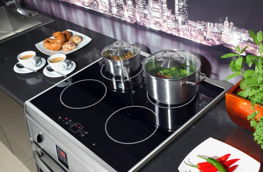 stainless steel induction range
