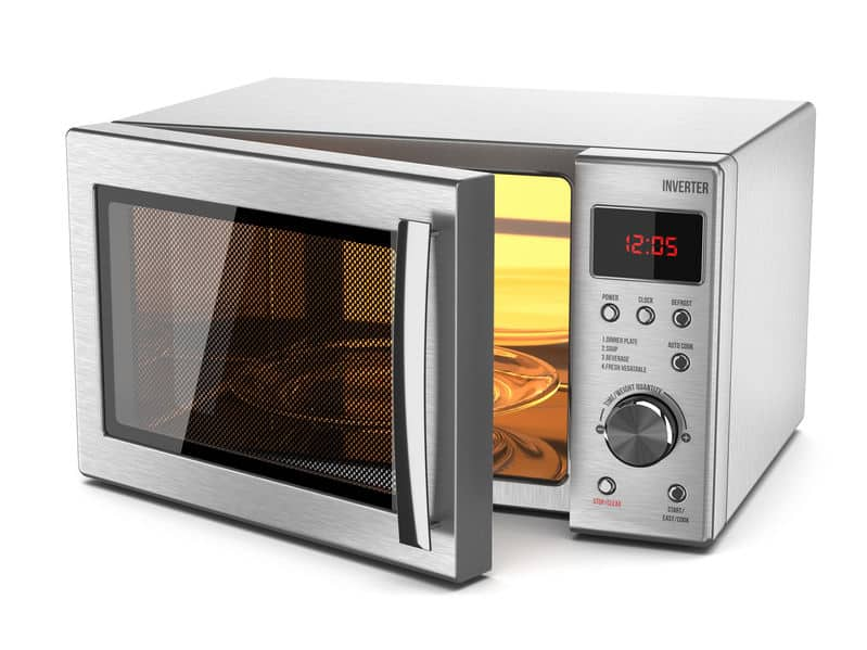 Microwave stove isolated on white background