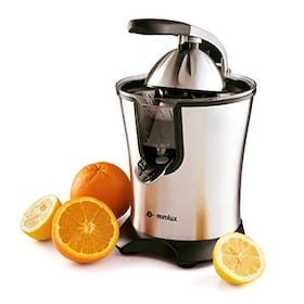 citrus juicer and fresh oranges