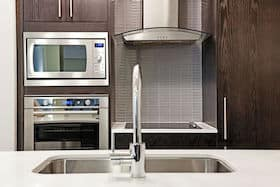 built-in stainless steel microwave oven
