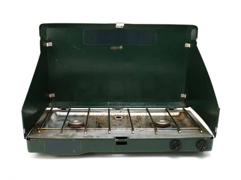 two burner camping stove with windshields